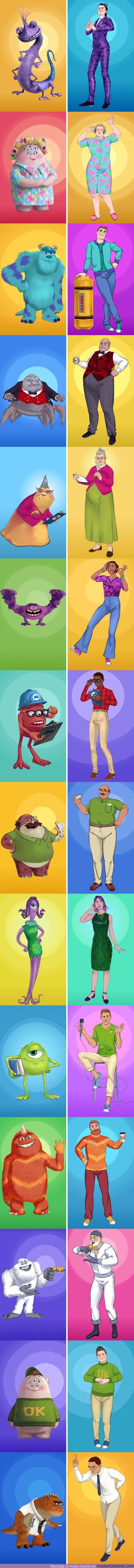 """60932 - GALERÍA: Imaginamos cómo se verían los personajes de """"Monsters, Inc."""" si fueran humanos"""