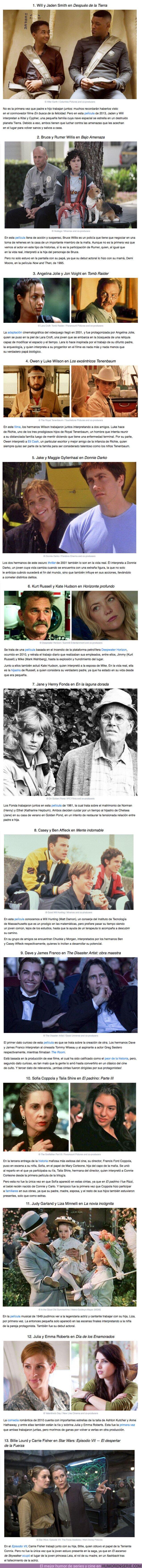 61024 - GALERÍA: 13 Actores y actrices que actuaron con sus familiares en la misma película