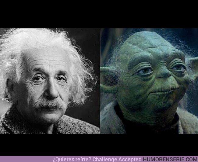 61062 - El equipo artístico de #STARWARS se inspiró uno de los más grandes genios de todos los tiempos, Albert Einstein, para crear el entrañable personaje de Yoda.