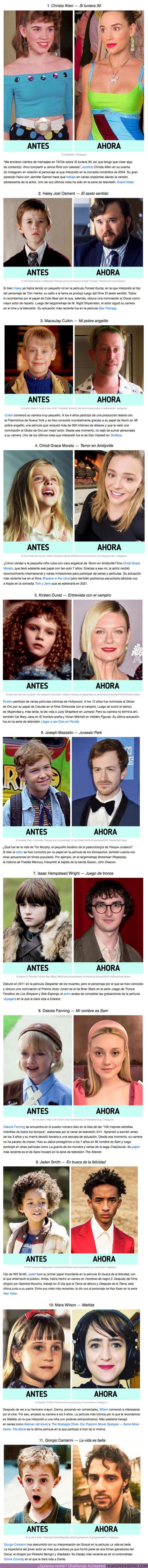 61213 - GALERÍA: Cómo lucen hoy 11 actores que interpretaron papeles en películas y series icónicas durante su niñez