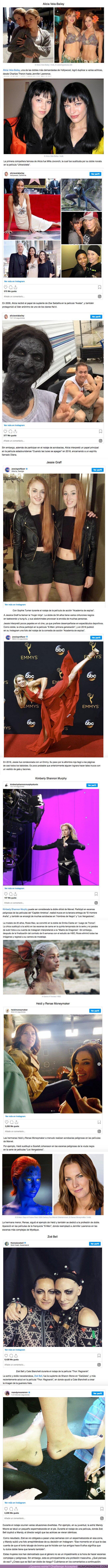61353 - GALERÍA: ¿Quiénes sustituyen a las famosas actrices en las escenas íntimas y peligrosas de las películas?