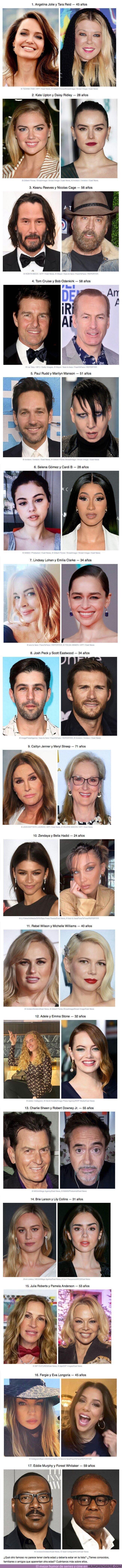 61604 - GALERÍA: 17 Pares de famosos que comparten la misma edad, aunque cueste creerlo