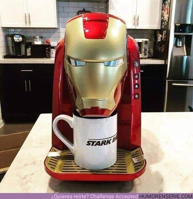 61703 - Ahora que sabes que puedes tomar café hecho por el mismísimo Iron Man ya no quieres otra cosa