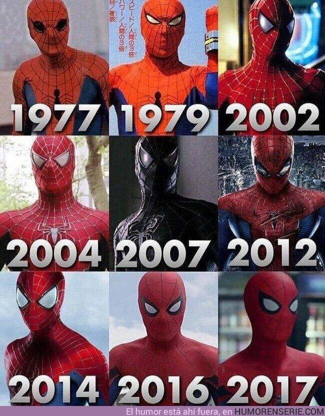 61756 - Los distintos trajes de Spider-Man vistos en TV y Cine. ¿Cual te gusta más?