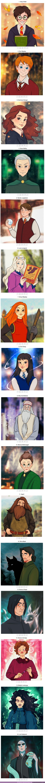 """62019 - GALERÍA: Así lucirían 16 personajes de """"Harry Potter"""" si fueran parte del mundo de Disney"""