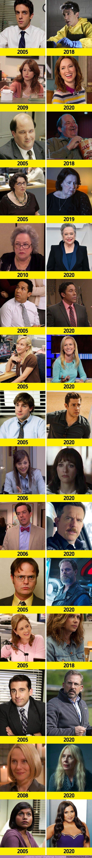 """62101 - GALERÍA: Así ha cambiado el elenco de la desternillante serie """"The Office"""""""