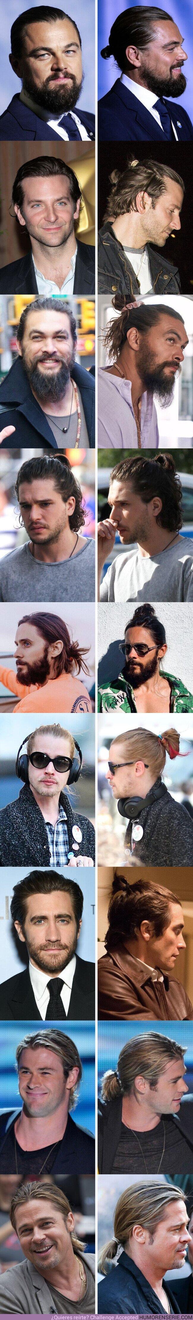 62855 - GALERÍA: 15 Famosos que llevan el cabello largo y enrollado en un moño, y nos parece que lucen muy apuestos