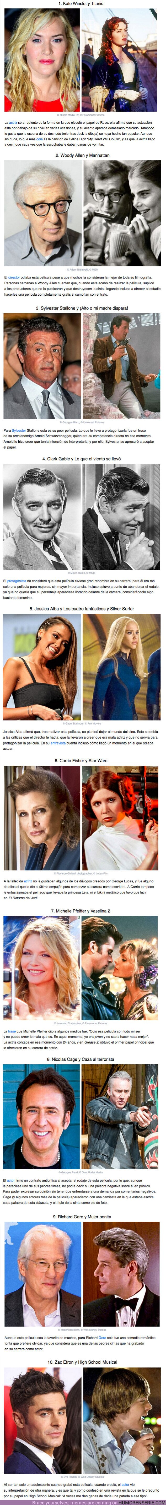 62929 - GALERIA: 10 Actores que odian sus películas más famosas