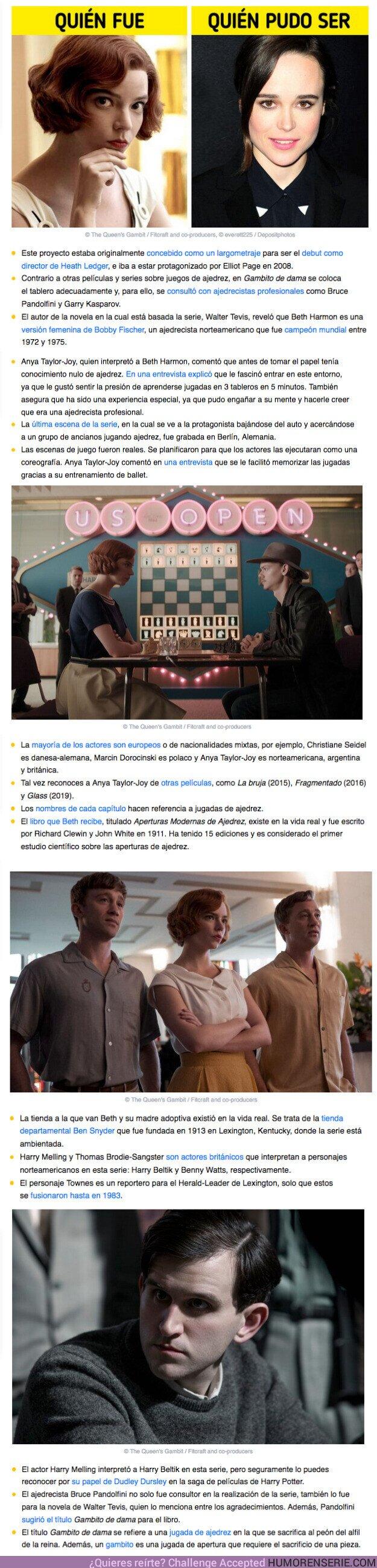 """63182 - GALERÍA: 16 Datos singulares sobre la miniserie de Netflix """"Gambito de dama"""""""