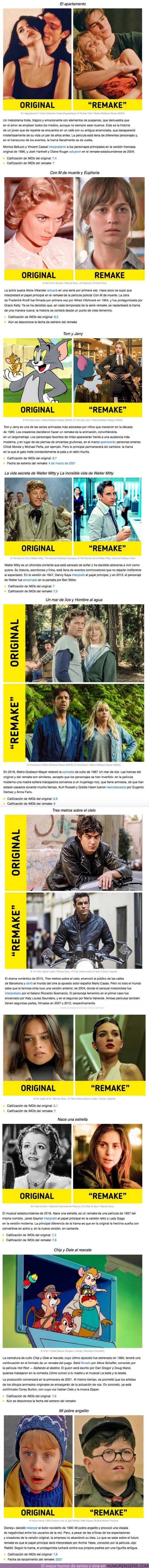 """63578 - GALERÍA: 10 Películas y sus """"remakes"""" que hicieron mucho ruido en la red"""