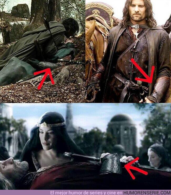 63675 - Aragorn llevando los brazaletes de Boromir para conmemorarle y otras formas de hacerme llorar