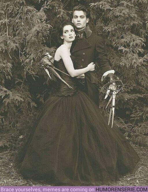 63814 - Johnny Depp y Winona Ryder en #EdwardScissorhands