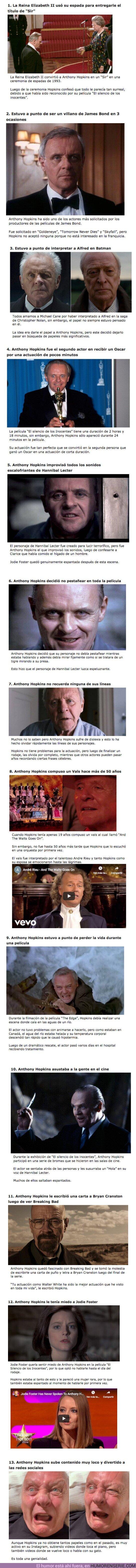 64044 - GALERÍA: 13 Curiosidades que comprueban la genialidad de Anthony Hopkins