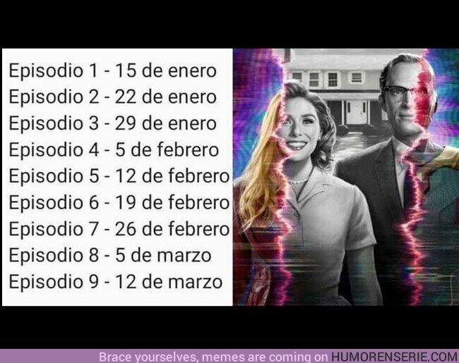 64454 - Estas son las fechas de estreno de cada episodio de #WandaVision