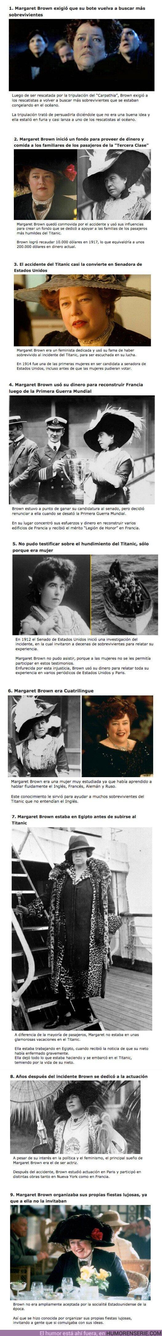 """64510 - GALERÍA: 9 Curiosidades sobre """"Molly Brown"""" la verdadera sobreviviente del Titanic"""