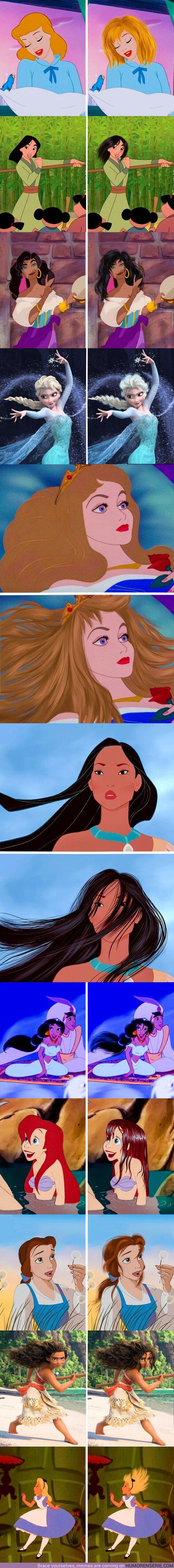 65012 - GALERÍA: Cómo se verían las chicas de Disney si su cabello fuera real