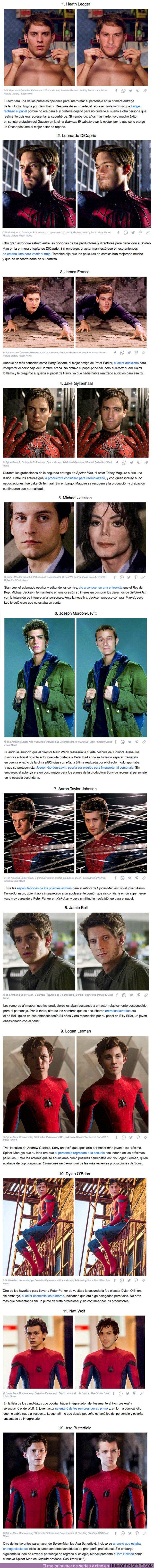 65232 - GALERÍA: Cómo se hubieran visto 12 actores interpretando a Spider-Man en la pantalla grande