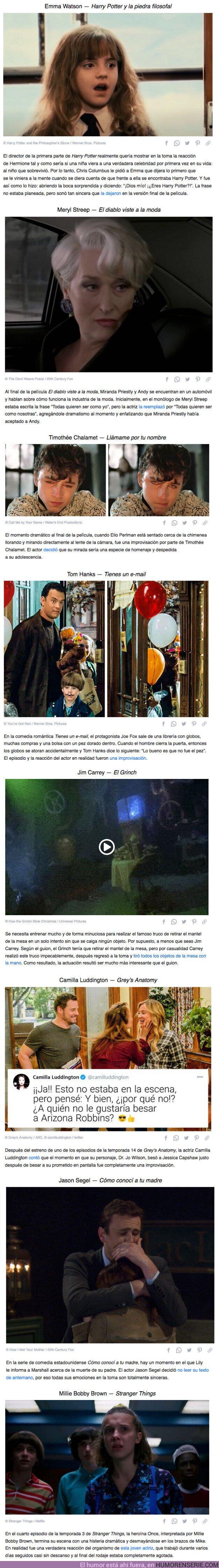65287 - GALERÍA: 10 Escenas memorables en las series y películas que se obtuvieron por casualidad