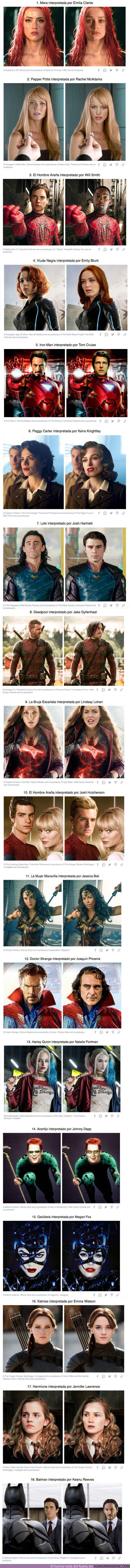 65297 - GALERÍA: Imaginamos cómo se verían 18 personajes de ficción interpretados por otros famosos