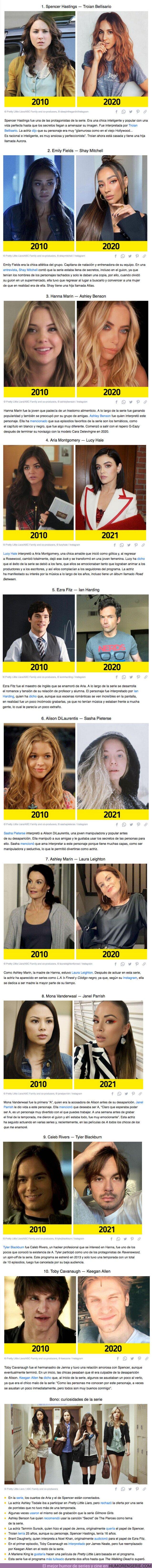 """65538 - GALERÍA: Qué hace y cómo luce el elenco de """"Pretty Little Liars"""" después de 10 años (y algunos detalles sobre la producción de la serie)"""
