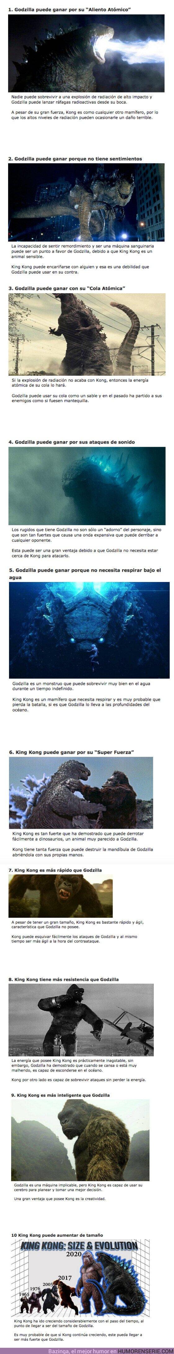 66150 - GALERÍA: 10 motivos por los que Godzilla derrotará a King Kong y viceversa