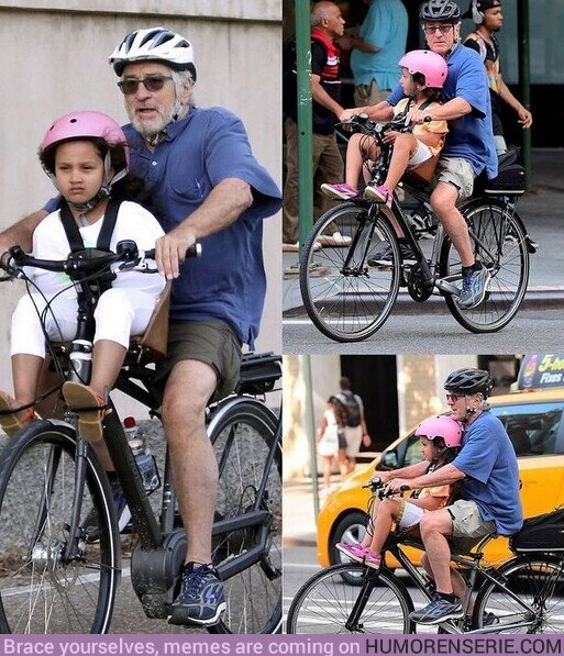 66206 - No es para su próxima película, es Robert De Niro paseando en bici con su hija por las calles de Nueva York