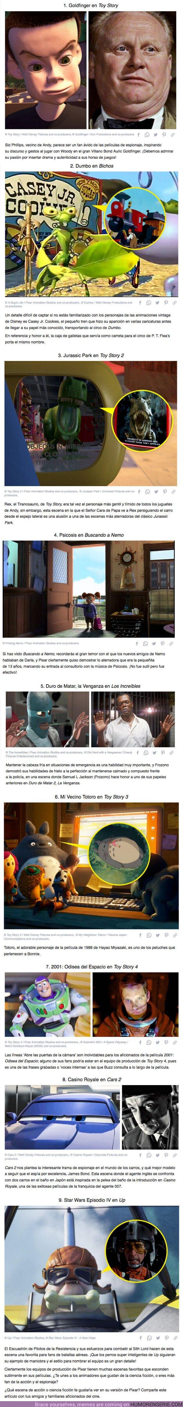 66499 - GALERÍA: 9 Escenas en películas de Pixar que hacen referencia a escenas épicas de clásicos del cine