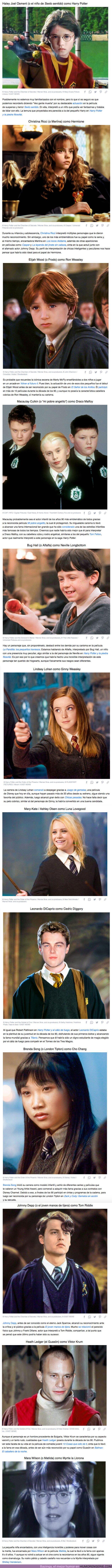 """66834 - GALERÍA: Cómo se verían los estudiantes de Hogwarts si """"Harry Potter"""" se hubiera hecho en los 90 con actores famosos de la época"""