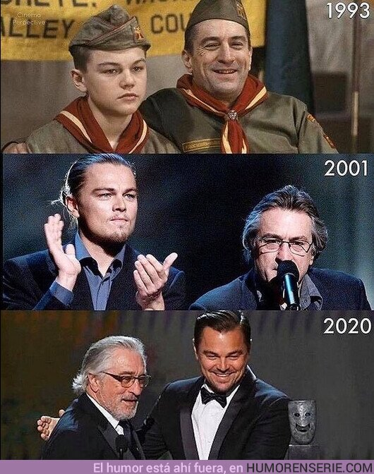 66944 - Dos leyendas de sus generaciones: Robert de Niro y Leonardo DiCaprio a lo largo de los años.