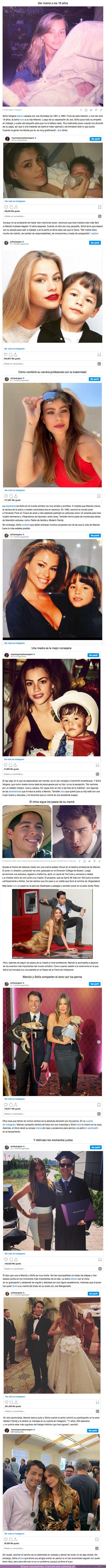 """67133 - GALERÍA: """"Lo crie tratando de darle el mejor ejemplo"""", Sofía Vergara compartió lo que significó ser mamá soltera a los 19 años"""