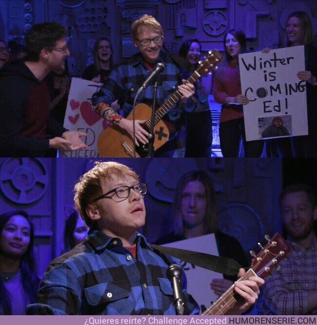 67254 - Rupert Grint haciéndose pasar por Ed Sheeran. Adorable