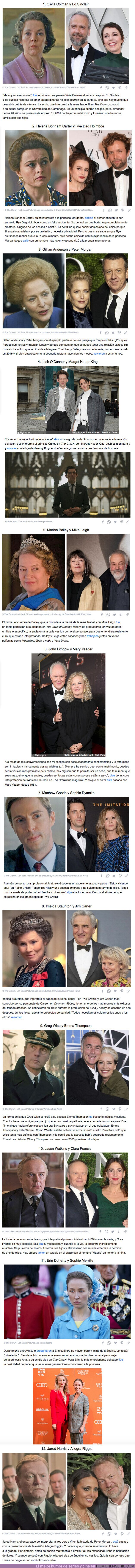 """67503 - GALERÍA: Conoce a las parejas en la vida real de los actores de """"The Crown"""""""