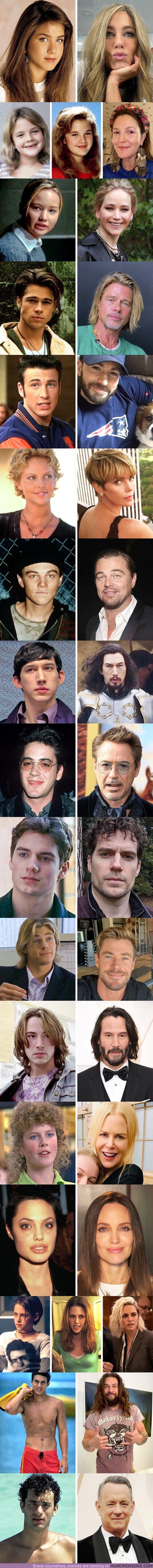 67670 - GALERÍA: Comparamos fotos de 17 actores cuando empezaron su carrera y cómo lucen hoy