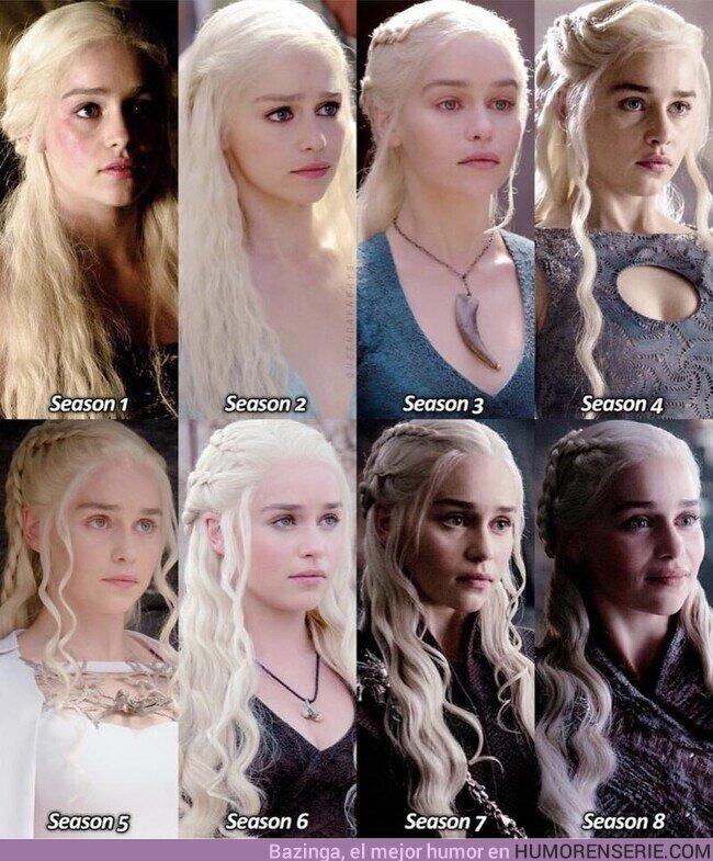 """67887 - Evolución de Daenerys Targaryen en las 8 temporadas de """"Juego de Tronos"""""""