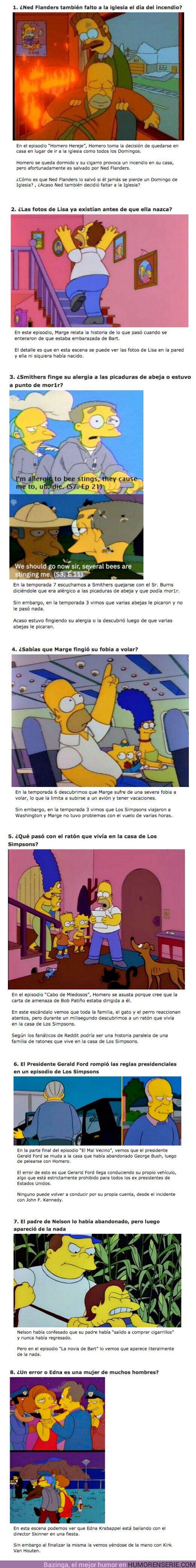 """67901 - GALERÍA: 8 Errores de continuidad que nadie notó en """"Los Simpsons"""""""