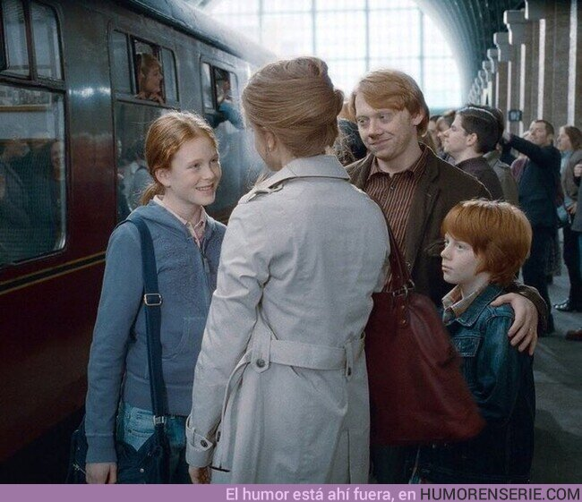 67994 - Ron se casó con Hermione, y la pareja tuvo dos hijos llamados Rose y Hugo