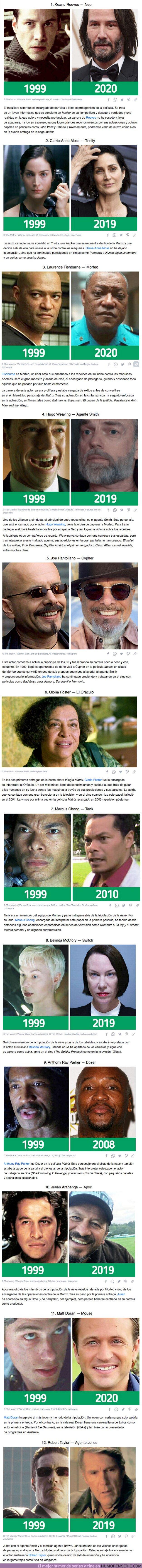 """68198 - GALERÍA: Cómo han cambiado 12 actores de """"Matrix"""" a más de 20 años de su estreno"""