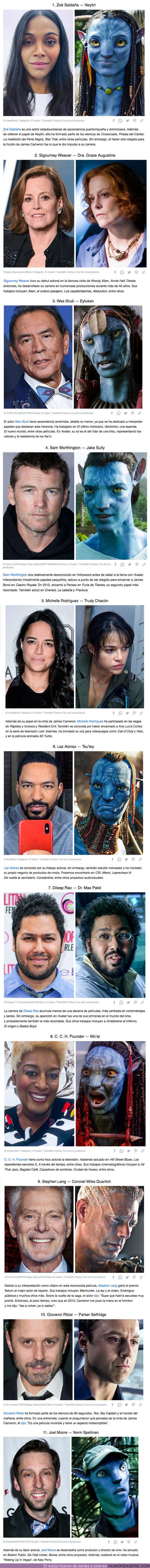 """68578 - GALERÍA: 11 Personajes de """"Avatar"""" y sus actores en la vida real"""
