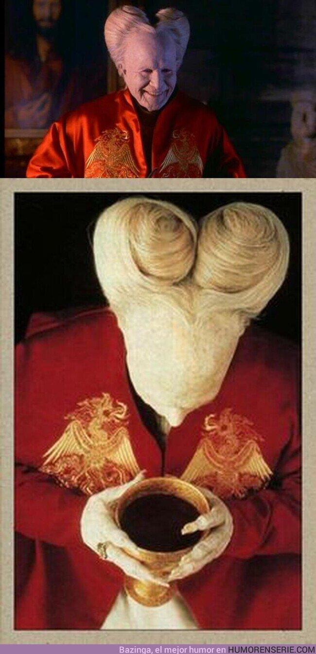 69086 - Lo del DRÁCULA de Coppola tiene mucho mérito. No debe ser fácil apañarse ese peinado sin verse en el espejo.