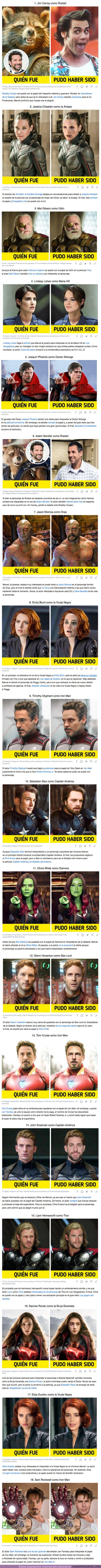 69128 - GALERÍA: 18 Actores que casi se quedaron con los personajes de Marvel en lugar del reparto oficial