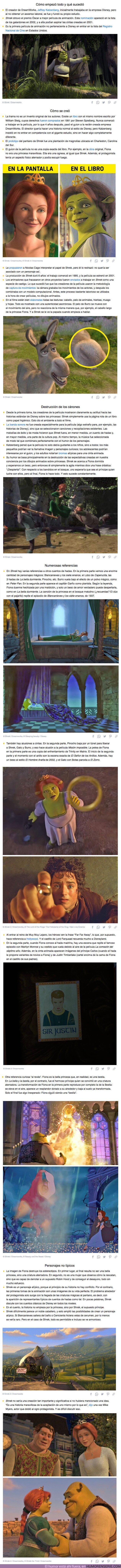 """69371 - GALERÍA: 20+ Hechos sobre """"Shrek"""", la serie de películas que se atrevió a destruir las reglas establecidas de la animación"""