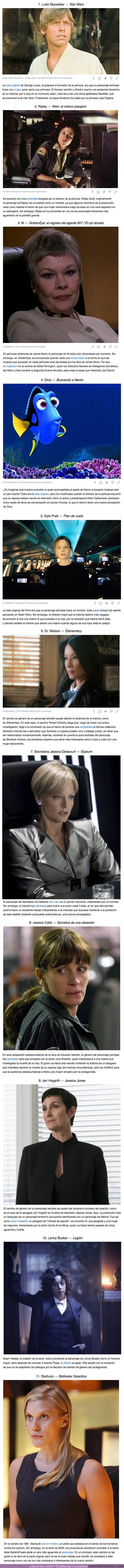 69455 - GALERÍA: 11 Personajes de televisión y películas a los que les cambiaron el género (y fue una buena decisión)