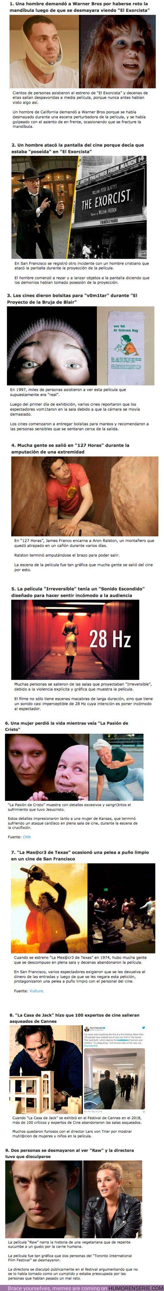 69563 - GALERÍA: 9 Películas de terror que causaron que la gente salga huyendo del cine
