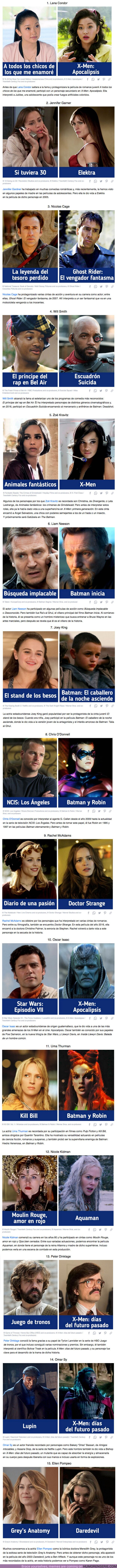 69585 - GALERÍA: 15 Famosos que no recordamos mucho por sus papeles en las películas de superhéroes, pero sí por sus otros personajes