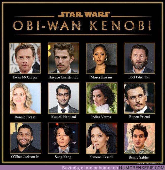 69798 - Lucasfilm acaba de hacer OFICIAL el reparto de la serie #Kenobi.