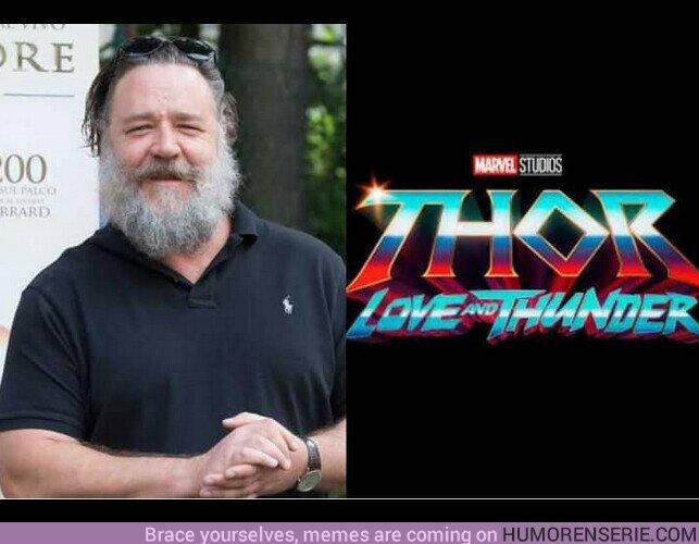 69911 - El actor #RussellCrowe, conocido por su trabajo en #Gladiador, se une al reparto de #ThorLoveAndThunder