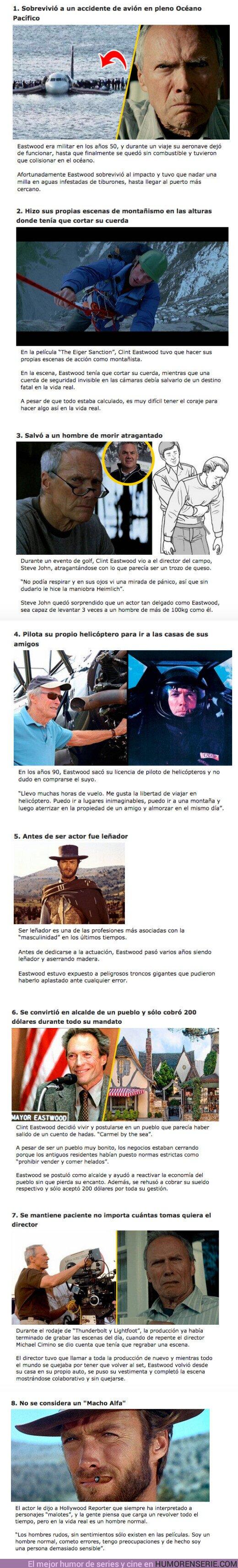 """69971 - GALERÍA: 8 Razones por las que Clint Eastwood es considerado el hombre más """"macho"""" de Hollywood"""