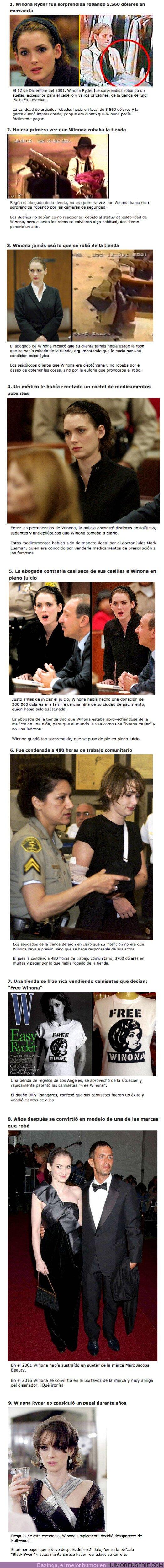 70166 - GALERÍA: 9 Detalles sobre la vez en la que Winona Ryder robó una tienda de ropa