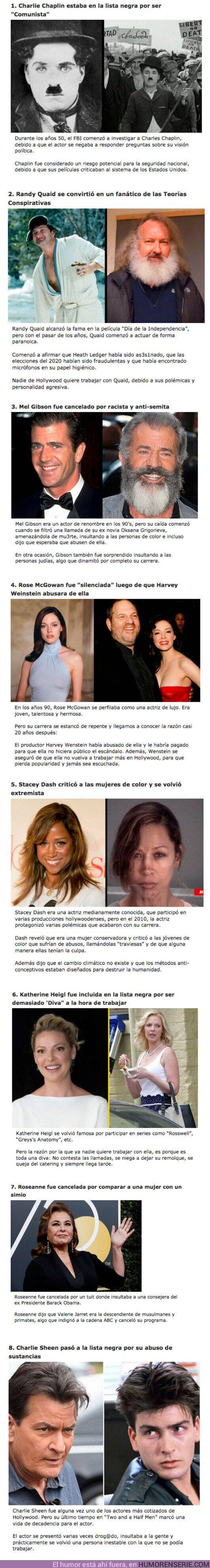 """70169 - GALERÍA: 8 Actores que fueron incluidos en la """"Lista Negra"""" de Hollywood"""