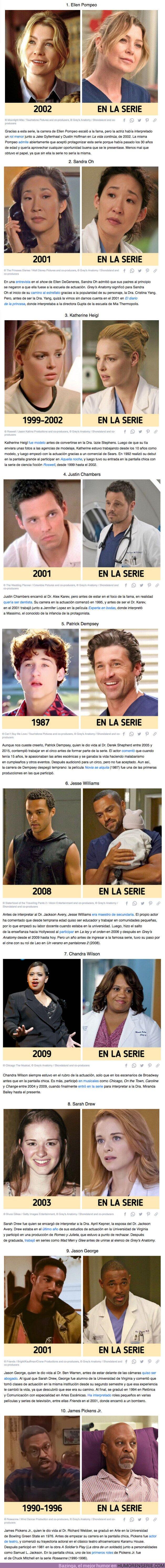 """70176 - GALERÍA: Qué hacían 10 actores de """"Grey's Anatomy"""" antes de lanzarse al estrellato con la serie"""